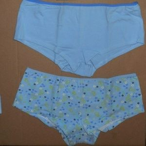 2 Cotton Spandex Boy Mini Short Underwear Plus Sz